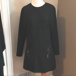 Zara, L, black zipper dress